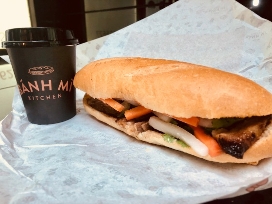 Bahn Mi BBQ pork roll with vietnamese coffee